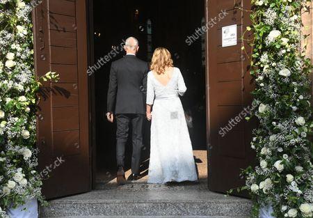 Wedding of Nicoletta Mantovani with Alberto Tinarelli in the church of Sant'Antonio da Padova in Bologna