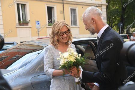 Stock Photo of Wedding of Nicoletta Mantovani with Alberto Tinarelli in the church of Sant'Antonio da Padova in Bologna