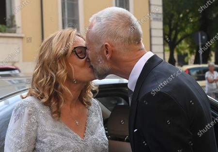 Editorial photo of Nicoletta Mantovani and Alberto Tinarelli wedding, Bologna, Italy - 21 Sep 2020