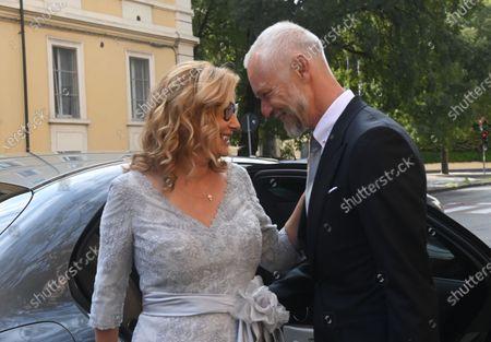 Editorial picture of Nicoletta Mantovani and Alberto Tinarelli wedding, Bologna, Italy - 21 Sep 2020