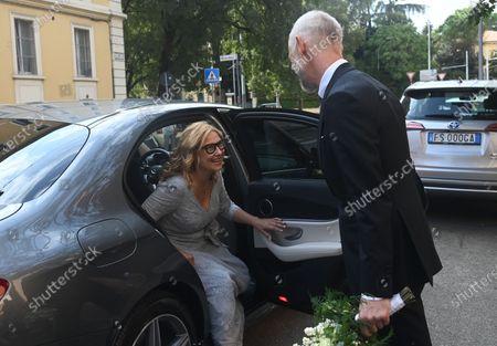 Editorial image of Nicoletta Mantovani and Alberto Tinarelli wedding, Bologna, Italy - 21 Sep 2020