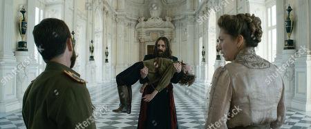Tom Hollander as Tsar Nicholas II, Alexander Shefler as Tsaravich Alexei, Rhys Ifans as Rasputin and Branka Katic as Tsarina Alix