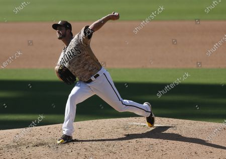 Drew Pomeranz of the San Diego Padres pitches against the Seattle Mariners at Petco Park
