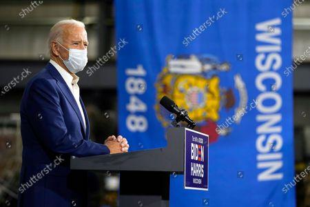 Joe Biden campaigns at Wisconsin Aluminum Foundry, Manitowoc