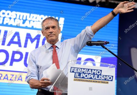 Stock Photo of Carlo Cottarelli attends the public meeting for the NO in the referendum against the cut of parliamentarians