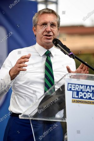 Benedetto della Vedova attends the  public meeting for the NO in the referendum against the cut of parliamentarians