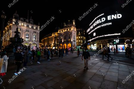 I Saw The World End, an illuminated 'collective reading' of text exploring both perspectives on dropping of the atomic bombs on Hiroshima and Nagasaki. It was collated by Es Devlin and Machiko Weston and is screened on the Piccadilly Lights in London to mark United Nations International Day of Peace. The artwork was commissioned by Imperial War Museums (IWM) to mark the 75th anniversary of the dropping of the atomic bombs in the final days of the Second World War and was released on IWM's website and social media channels on August 6.  The Piccadilly Lights screening was rescheduled from August 6 to September 21.