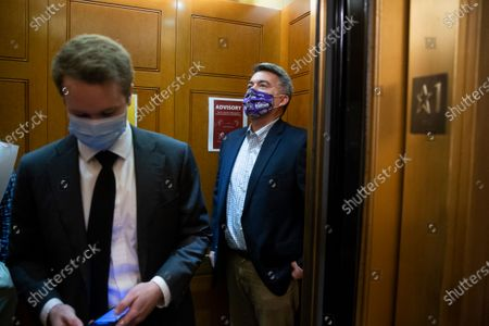 Republican Senator from Colorado Cory Gardner (R) takes an elevator on his way to the Senate floor before voting on Capitol Hill in Washington, DC, USA, 21 September 2020.