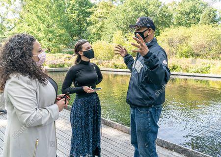 New York State Assemblywoman Nathalia Fernandez, New York State Senator Alessandra Biaggi, Bronx Borough President Ruben Diaz Jr. join Lieutenant Governor Kathy Hochul tour of Green Zone and Edible Academy at New York Botanical Garden