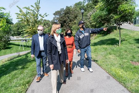 Editorial picture of LG Kathy Hochul tours New York Botanical Garden, United States - 21 Sep 2020