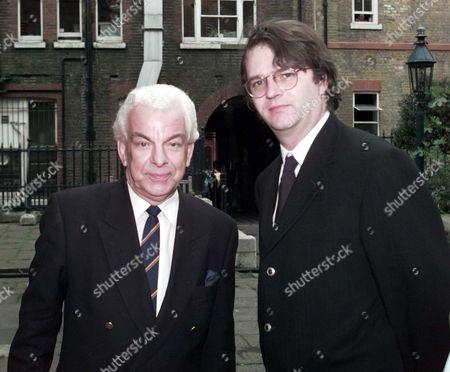 Willie Rushton Memorial Service At St.pauls' Covent Garden: Barry Cryer (l) & Paul Merton
