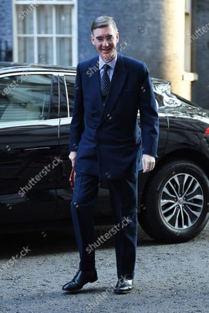 Jacob Rees-Mogg arrives for a cabinet meeting at Downing Street
