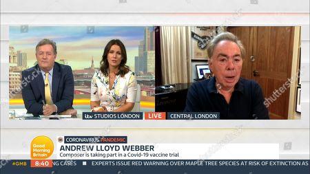 Piers Morgan, Susanna Reid, Sir Andrew Lloyd Webber
