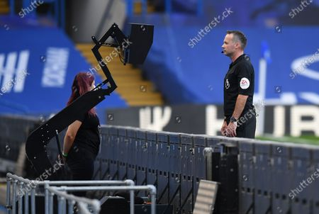 Andreas Christensen of Chelsea is sent off after VAR check