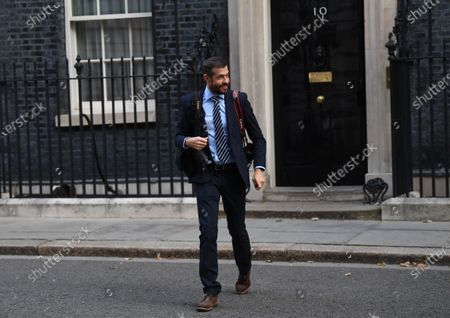 Andrew Parsons, photographer for Britain's Prime Minister Boris Johnson and Downing Street special advisor, departs Downing Street in London, Britain, 22 September 2020. Due to rising cases of coronavirus all pubs, bars, restaurants and other hospitality venues in England must have a 22:00 closing time from 24 September 2020. Further coronavirus restrictions and measures will be set out by the prime minister in the House of Commons on 22 September 2020.