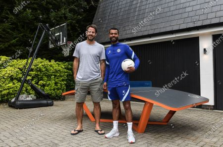 Ashley Cole with Jamie Redknapp