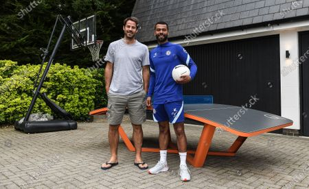 Stock Picture of Ashley Cole with Jamie Redknapp