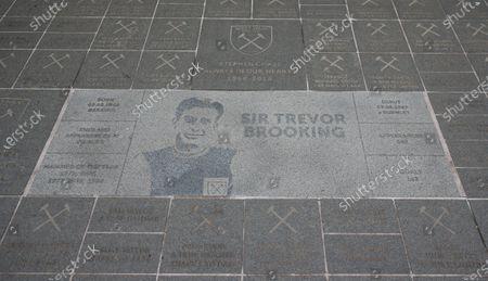 Trevor Brooking engraved stone at The London Stadium