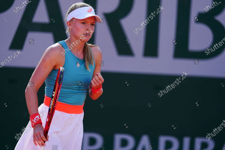Stock Image of Harriet Dart during her first round qualifying win