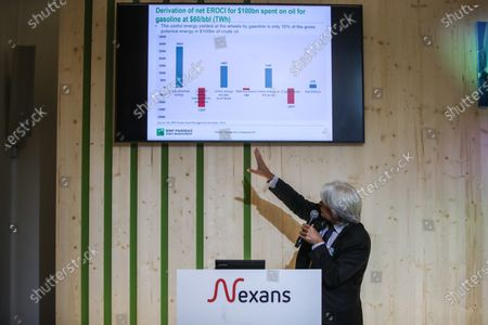 Mark Lewis, Head of Sustainable Development Research at BNP Paribas Asset Management, gives a speech during Nexans climate day held at the GoodPlanet foundation in Paris, France, 22 September 2020. Nexans held its first Climate Day on 22 September. This first edition brings together experts on the enviromental issues of global warming and energy transition and to talk about  sustainable electrification.