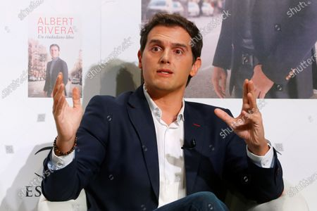 Editorial photo of Former president of Ciudadanos Party presents his book 'A Free Citizen'., Madrid, Spain - 22 Sep 2020