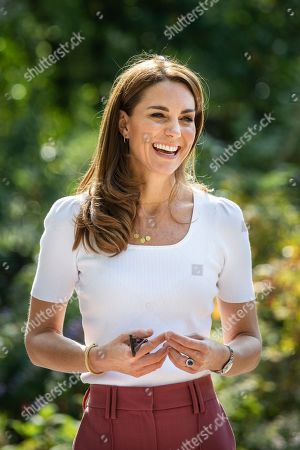 Catherine Duchess of Cambridge spending the day learning about the importance of parent-powered initiatives, hearing from families and key organisations about the ways in which peer support can help boost parent wellbeing. Her Royal Highness in Battersea Park listening directly to parents about their experiences of parent-to-parent support.