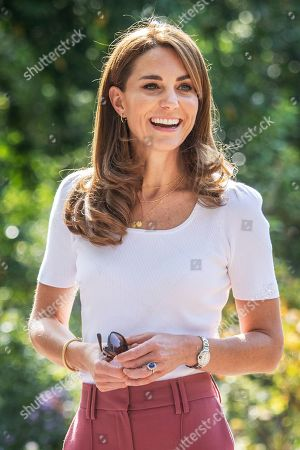 Catherine Duchess of Cambridge learning about parent-powered initiatives, London