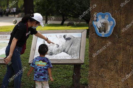 Editorial image of Beijing World Rhino Day, China - 22 Sep 2020