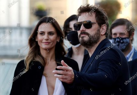 Matt Dillon (R) and his girlfriend Roberta Mastromichele (L) pose during the presentation of film 'El Gran Fellove' as part of 68th San Sebastian International Film Festival (SSIFF), in San Sebastian, Basque Country, Spain, 22 September 2020. The film competes in the official section. The film festival will run from 18 to 26 September 2020 under safety measures like obligatory face mask use and red carpets without public due to the Covid-19 coronavirus pandemic. Organizers have also reduced the number of film screenings as well as the seating capacity in cinemas.