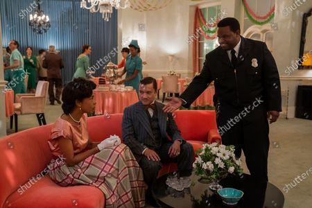 Stock Image of Sophie Okonedo as Charlotte Wells, Jon Jon Briones as Dr. Richard Hanover and Jermaine Williams as Harold