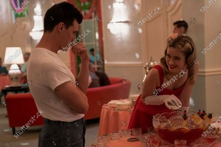 Finn Wittrock as Edmund Tolleson and Alice Englert as Nurse Dolly