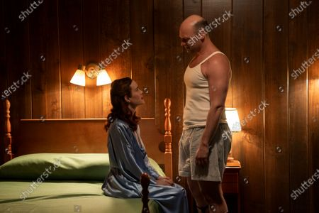 Sarah Paulson as Nurse Mildred Ratched and Corey Stoll as Charles Wainwright