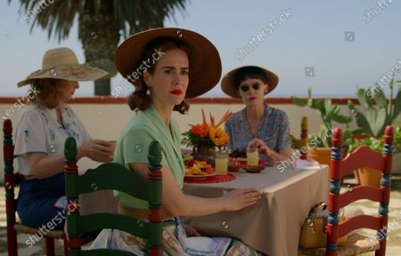 Stock Image of Cynthia Nixon as Gwendolyn Briggs, Sarah Paulson as Nurse Mildred Ratched and Judy Davis as Nurse Betsy Bucket