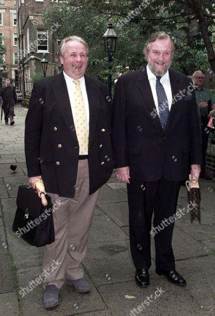 Stock Image of Willie Rushton Memorial Service At St.pauls' Covent Garden: Christopher Biggins (l) & Sheridan Morley