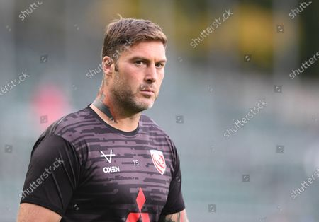 Stock Picture of Matt Banahan of Gloucester warms up; Recreation Ground, Bath, Somerset, England; English Premiership Rugby, Bath versus Gloucester.