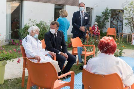 French President Emmanuel Macron visits EHPAD La Bonne Eure, Bracieux