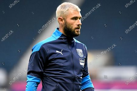 Stock Picture of West Bromwich Albion forward Charlie Austin (15) during the EFL Cup match between West Bromwich Albion and Brentford at The Hawthorns, West Bromwich