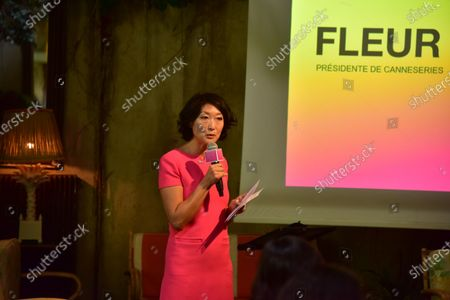 Press conference for season 3 of Canneseries, the Cannes international series festival. Fleur Pellerin