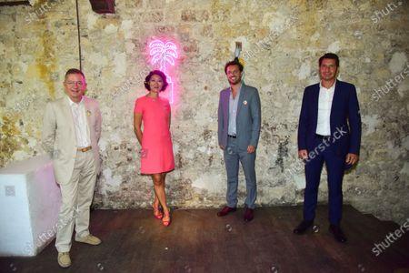 Press conference for season 3 of Canneseries, the Cannes international series festival. Albin Lewi, Fleur Pellerin, David Lisnard, Benoit Louvet