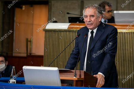 Editorial image of Francois Bayrou, High Commissioner for planning, presents his first work program, EESC, Paris, France - 22 Sep 2020