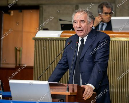 Francois Bayrou, High Commissioner for Planning, presents his first work program to the Economic, Social and Environmental Council.