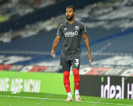 Rico Henry (3) of Brentford in action during the game