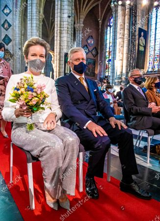 Belgian royals present at the Fur Jan van Eyck concert, Saint Bavo Cathedral, Gent
