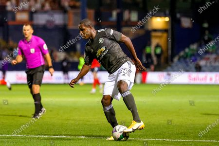 Manchester United forward Odion Ighalo (25) during the EFL Cup match between Luton Town and Manchester United at Kenilworth Road, Luton