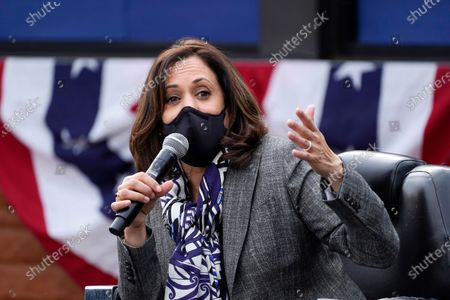 Kamala Harris on the campaign trail, Detroit
