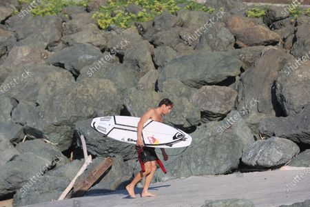 Stock Photo of Leonardo Fioravanti of Italy competing at the World Surf League 2020 French Rendez-Vous at Chambre d'Amour