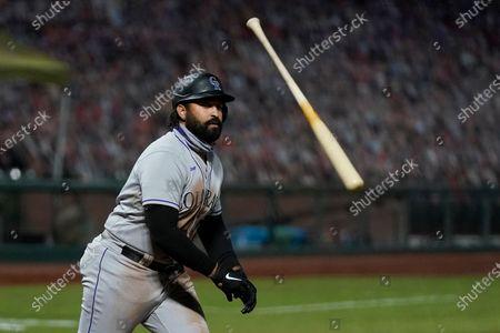 Editorial photo of Rockies Giants Baseball, San Francisco, United States - 22 Sep 2020