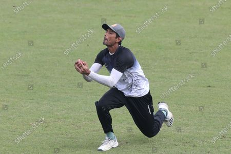 Bangladesh National Cricket Team Player Mahmudullah in action during practice session at Sher-e-Bangla National Cricket Stadium. Bangladesh is likely to play two tests in Kandy and the third in Colombo, with the side tour Sri Lanka this month. A tentative fixture has been chalked by the Bangladesh Cricket Board and Sri Lanka Cricket which will be revealed ahead of the series.