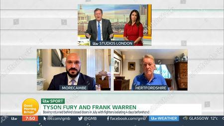 Stock Photo of Piers Morgan, Susanna Reid, Tyson Fury and Frank Warren