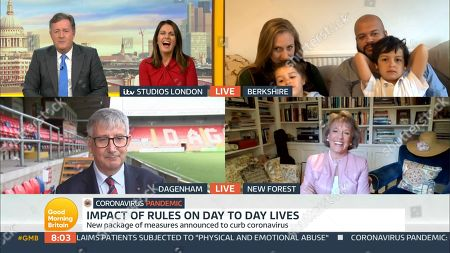 Stock Photo of Piers Morgan, Susanna Reid, Felicity Challis, Leon Davies, Steve Thompson and Dame Esther Rantzen